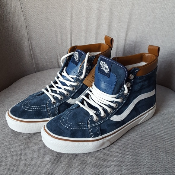 9248b969a1 Vans Sk8 Hi MTE Dress Blues Brown